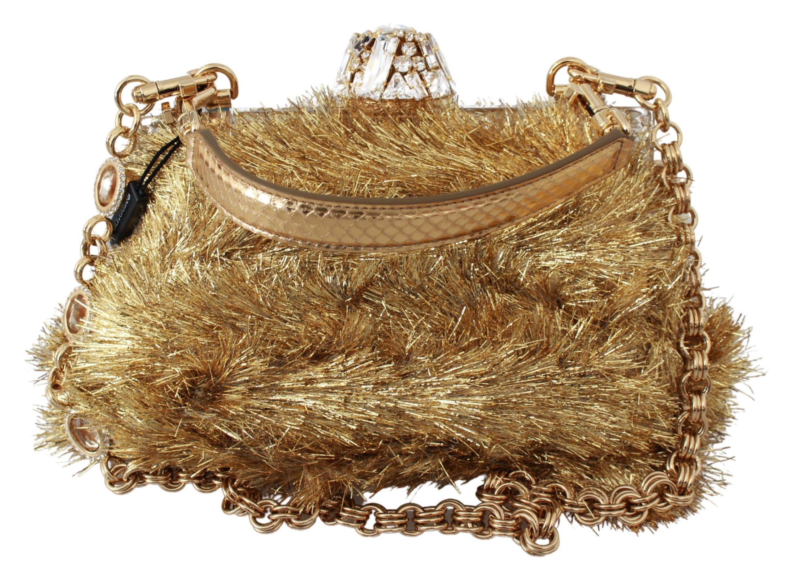 Dolce & Gabbana Women's Crystals Clutch Bag Gold VAS9381