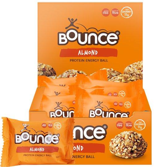"""Laatikollinen """"Energy Balls Almond"""" 12 x 45 g - 57% alennus"""