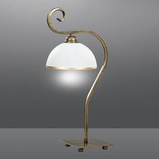 Bordlampe Wivara LN1 i klassisk design, gull
