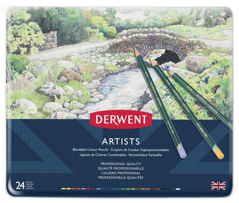 Derwent - Artists Pencils, 24 Tin