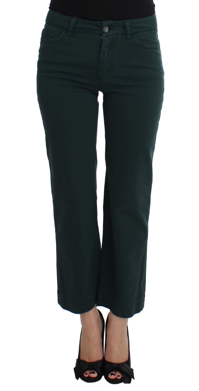 Dolce & Gabbana Women's Cotton Stretch Straight Fit Jeans Green SIG17510 - IT40|S