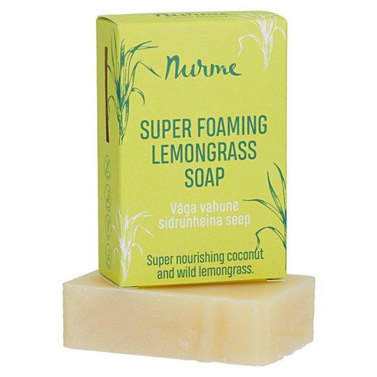 Nurme Super Foaming Lemongrass Soap, 100 g