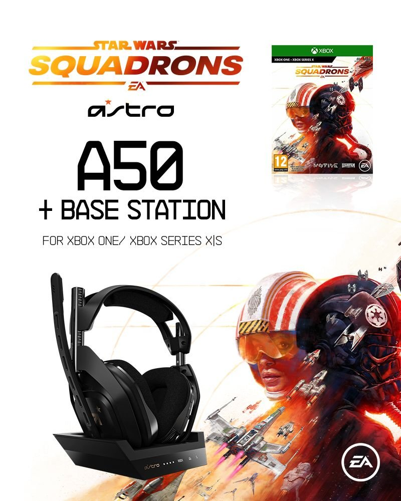 ASTRO A50 Wireless + Base Station for Xbox S,X/PC - XBSX - GEN4 + Star Wars: Squadrons (UK/Nordic)