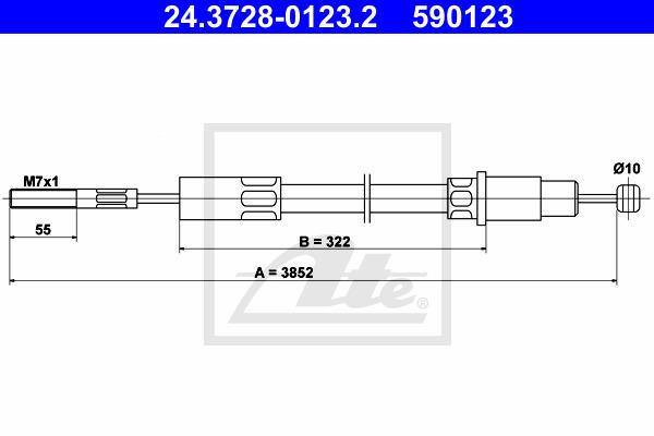 Kytkinvaijeri ATE 24.3728-0123.2