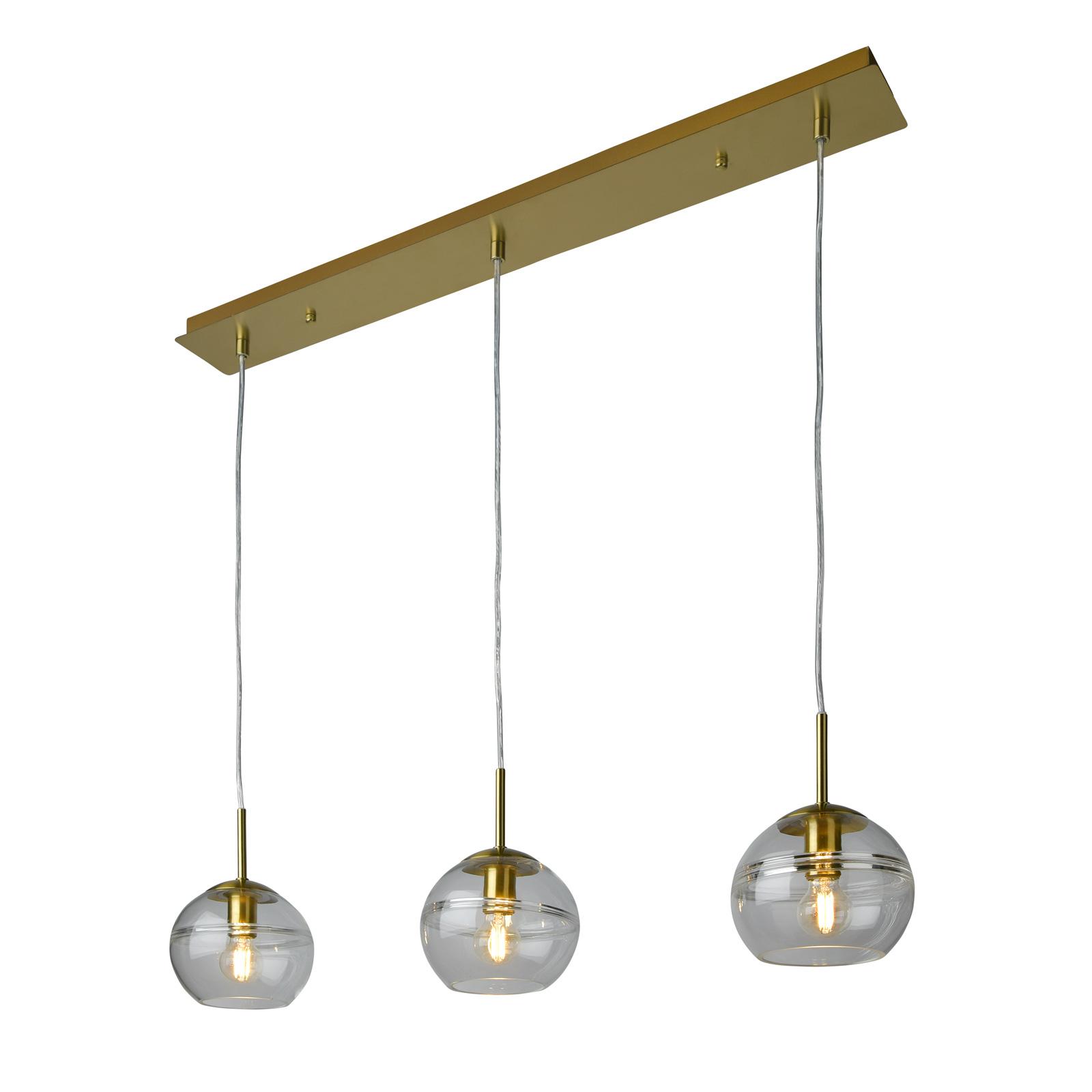 Villeroy & Boch Tokio riippuvalaisin, kulta 3-lamp