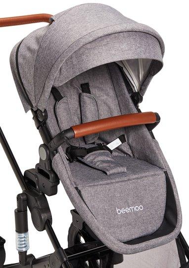 Beemoo Maxi 4 Søskensete, Grey/Black
