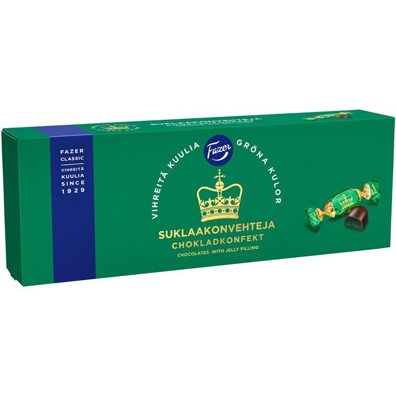 Suklaakonvehteja Vihreitä Kuulia - 25% alennus