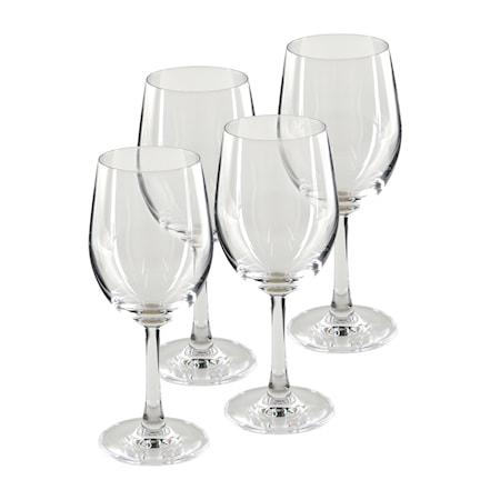 Pure & Simple Vitvinsglas 4-pack Klar