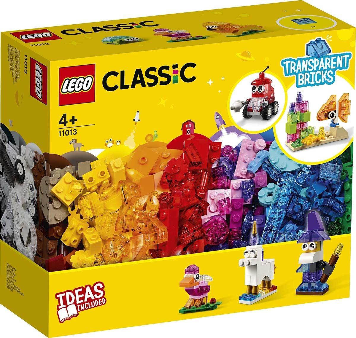 LEGO Classic 11013 Luovat läpinäkyvät rakennuspalikat