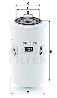 Hydrauliikkasuodatin, automaattivaihteisto MANN-FILTER WH 10 001
