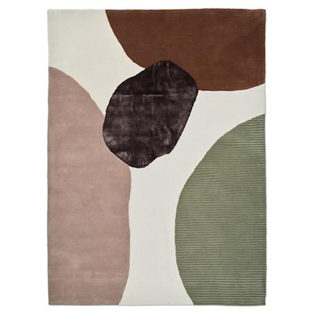 Topaz Teppe Ivory/Green 250x350 cm