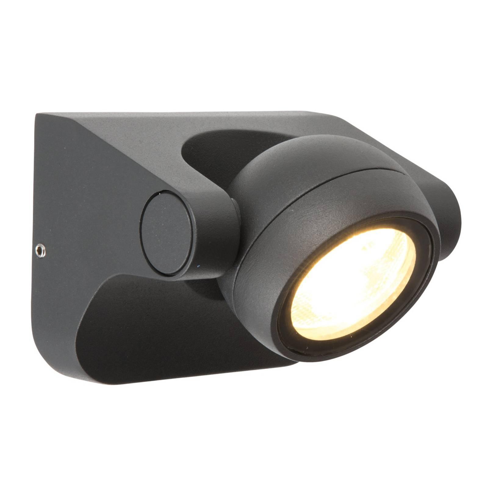 Justerbar LED-vegglampe Larry for utendørsbruk