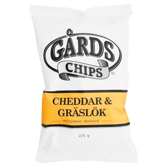 Chips Gräslök & Cheddar 225g - 75% rabatt