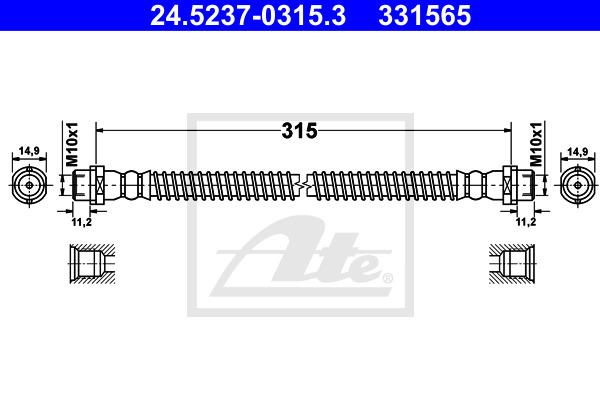 Jarruletku ATE 24.5237-0315.3