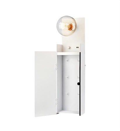 Combo Vegglampe Hvit