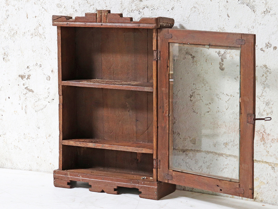 Small Decorative Wall Cabinet Brown