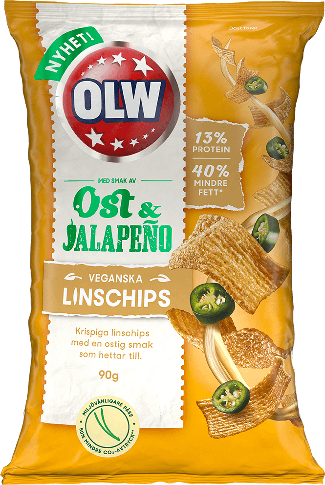 OLW Linschips Ost & Jalapeño 90g