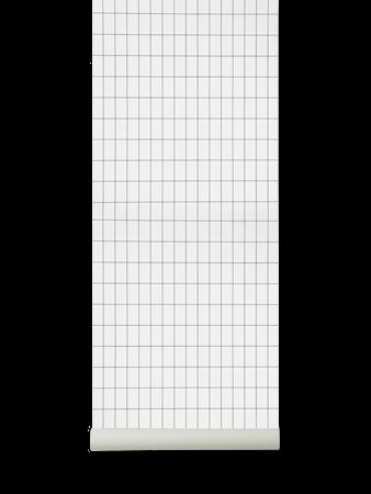 Grid Tapet Black/White