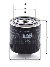 Öljynsuodatin MANN-FILTER W 920