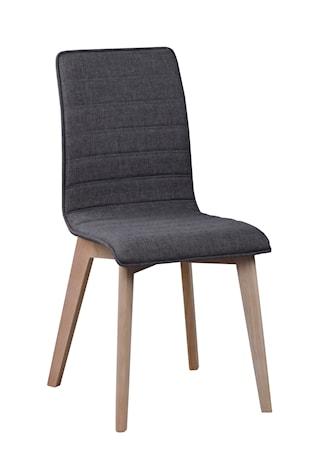 Gracy stol tyg mörkgrå/vitpigmenterad ek