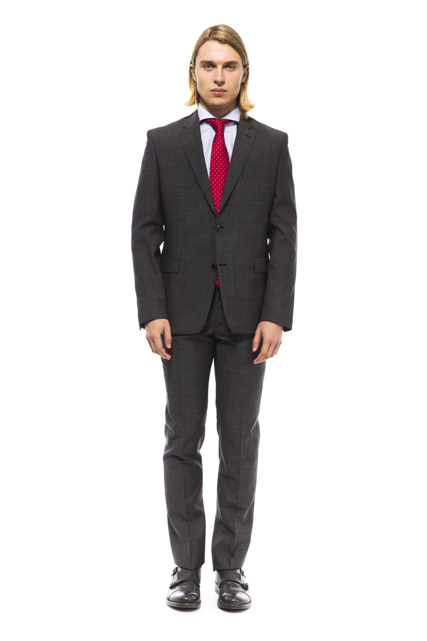 Uominitaliani Men's Suit Gray UO995858 - IT50 | L