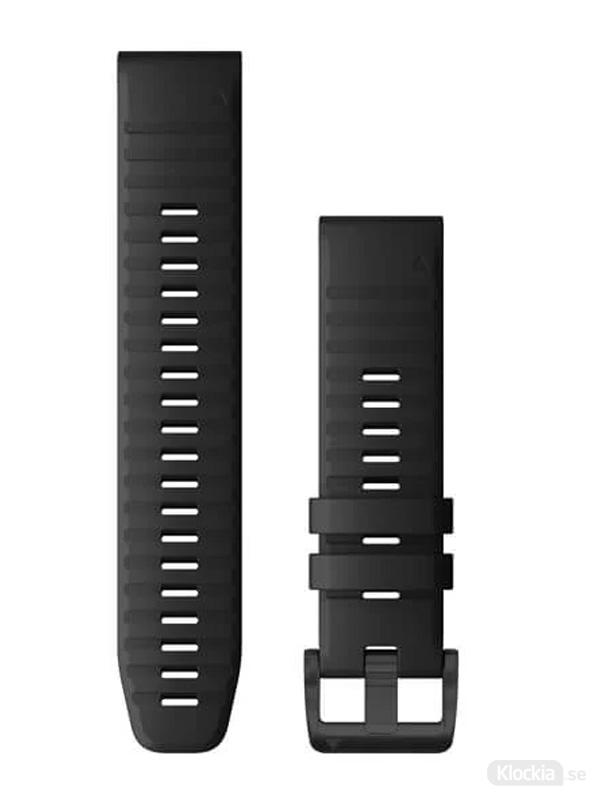 Garmin QuickFit 22mm klockarmband, Svart Silikon 010-12863-00