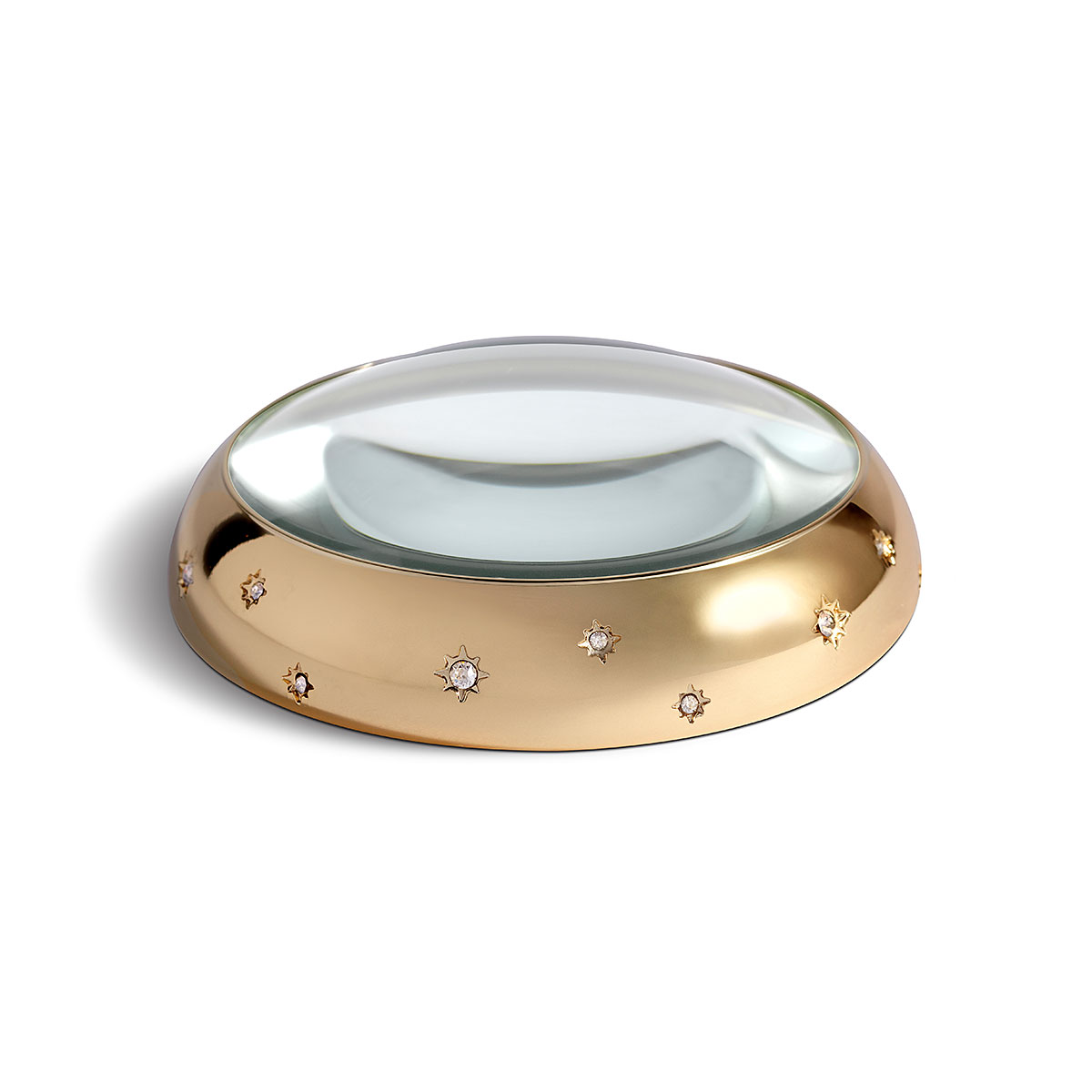 L'Objet I Stars Magnifying Glass Gold White Crystals