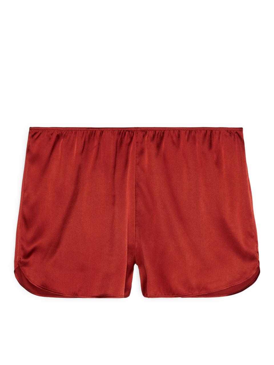 Silk Shorts - Orange