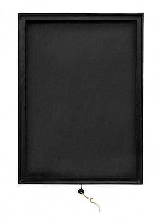 Display Box Svart Kvadrat metall/glas