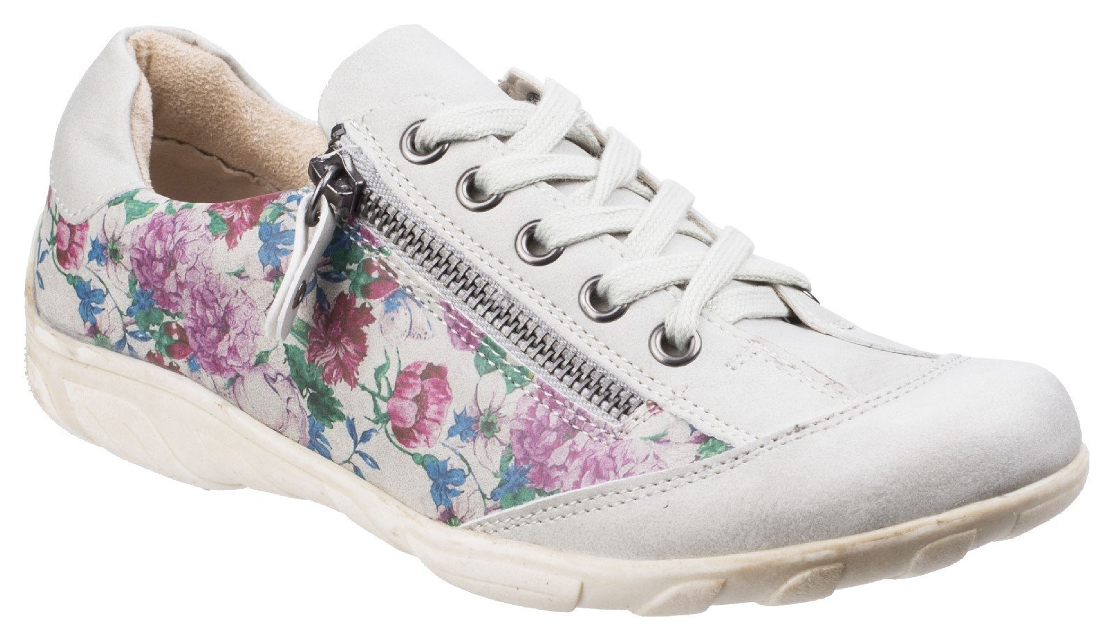 Fleet & Foster Women's Juniper Lace Up Trainer Black 26286-43844 - Floral 3