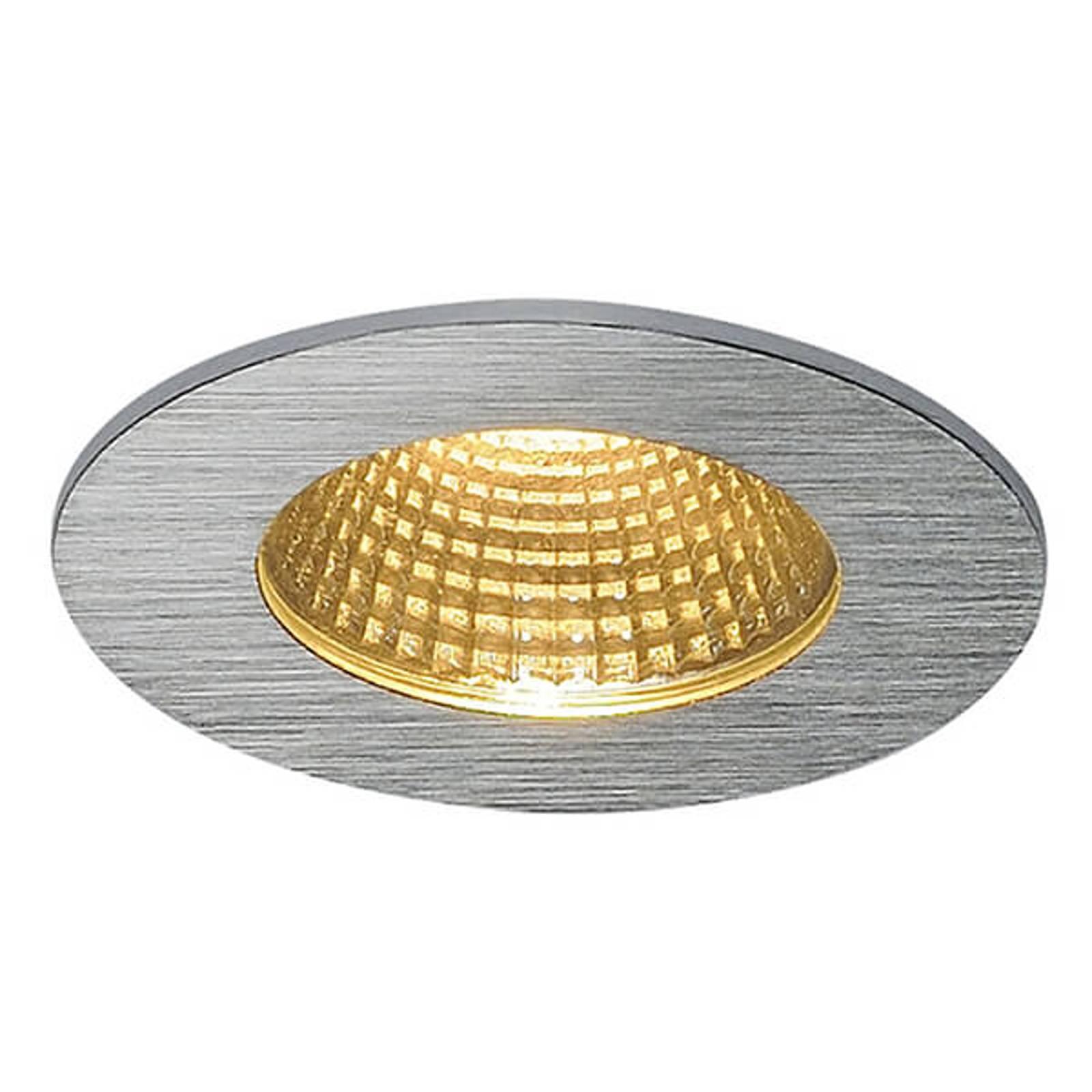 Alumiininvärinen LED-kattouppovalaisin Patta-I