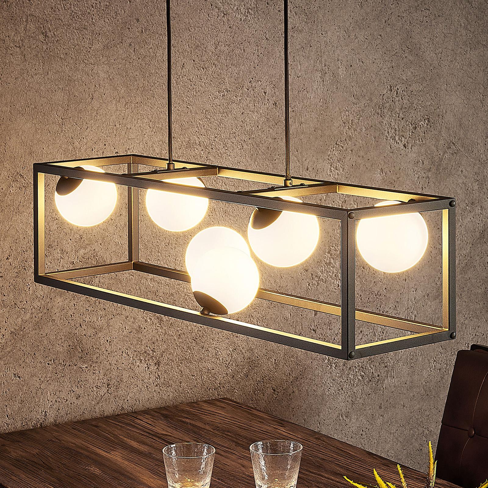 Lindby Utopia -LED-riippuvalaisin, 6-lamppuinen