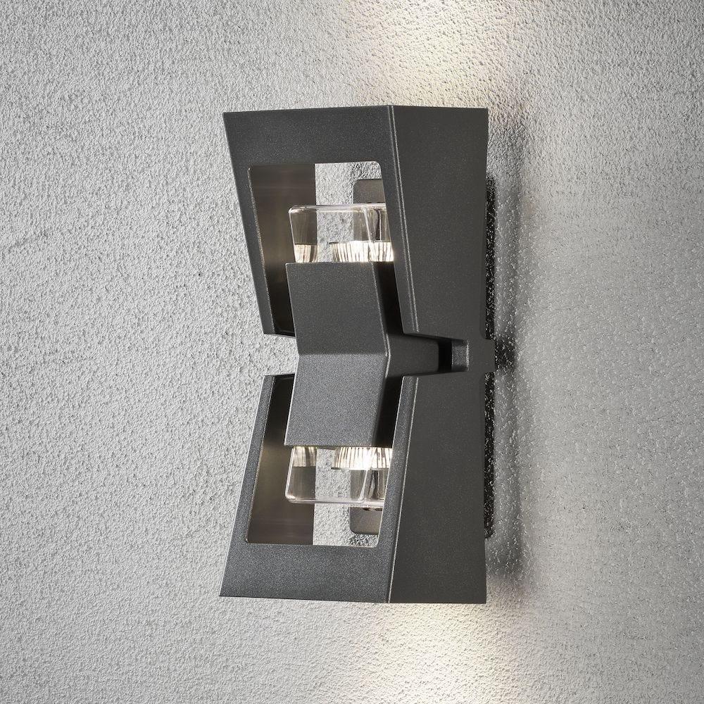 Konstsmide Vegglampe Potenza GU10 Antrasitt