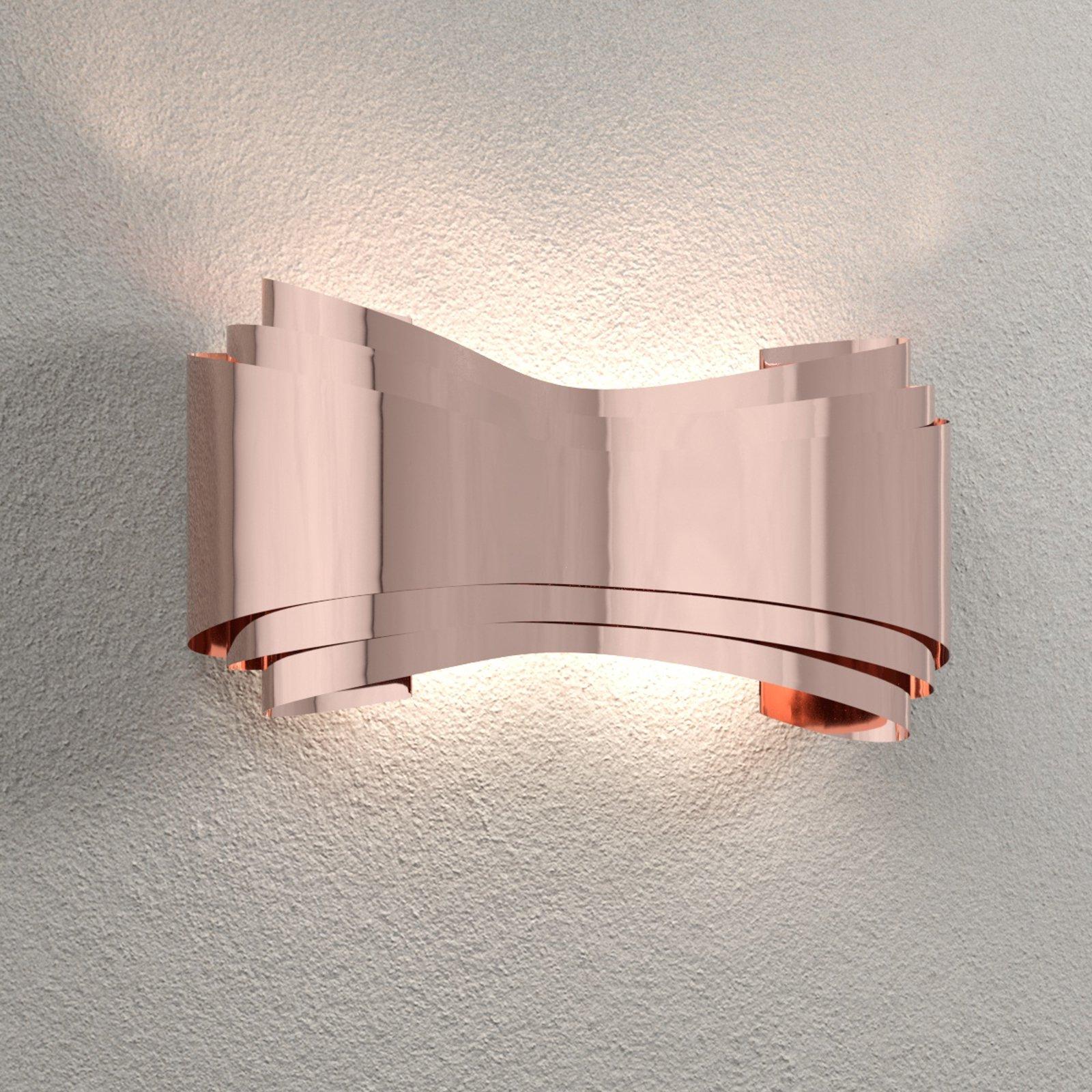 Ionica – kobberfarget LED-designvegglampe