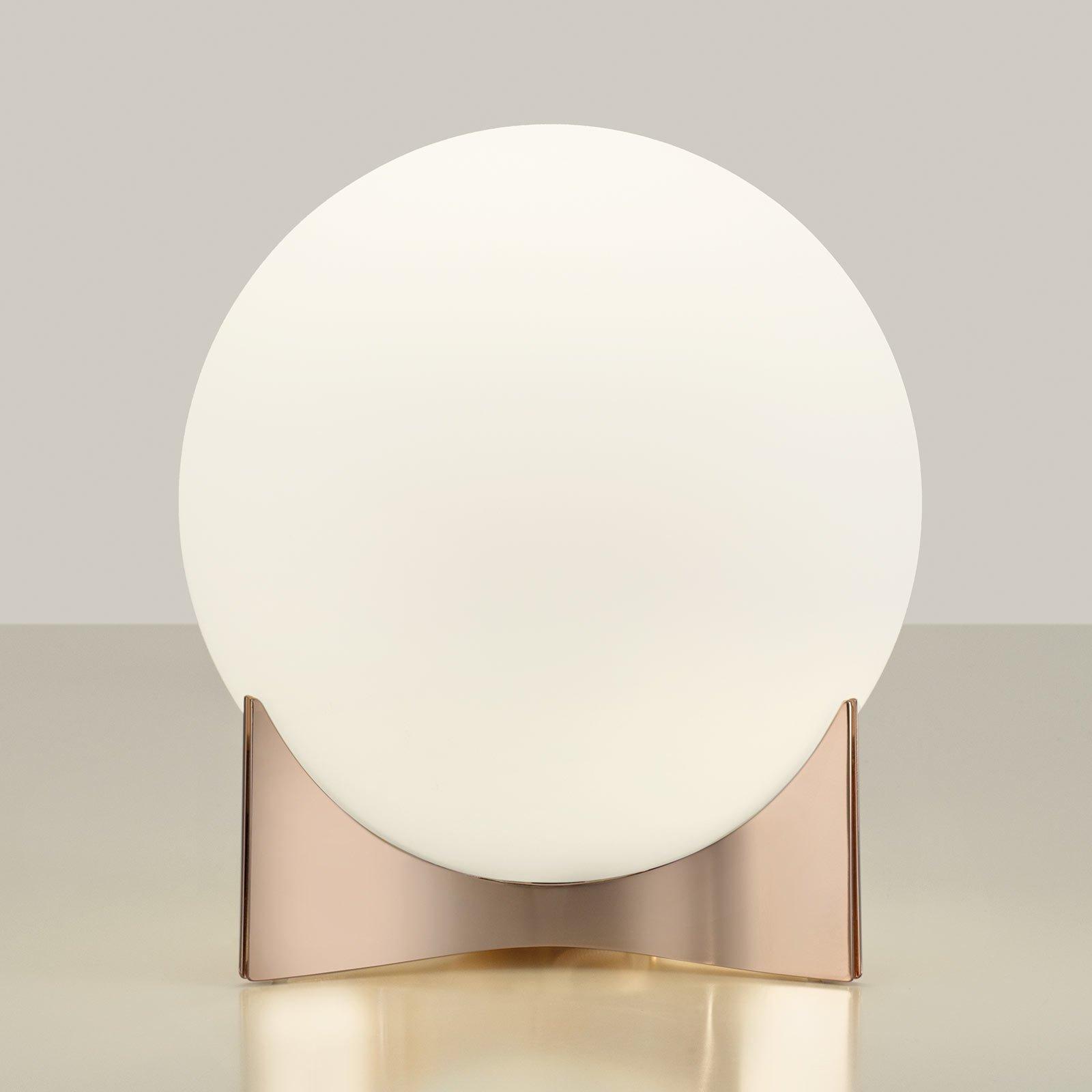 Terzani Oscar bordlampe av glass, rosegull