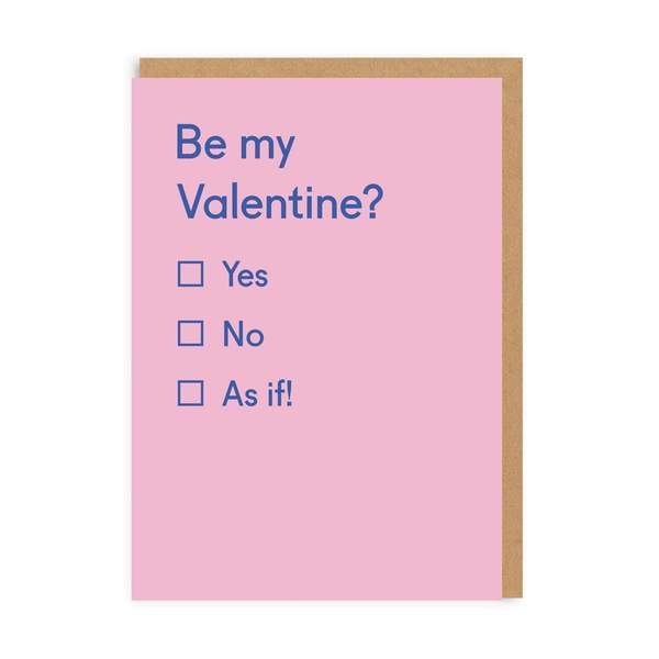 Yes / No / As If Valentine's Day Card