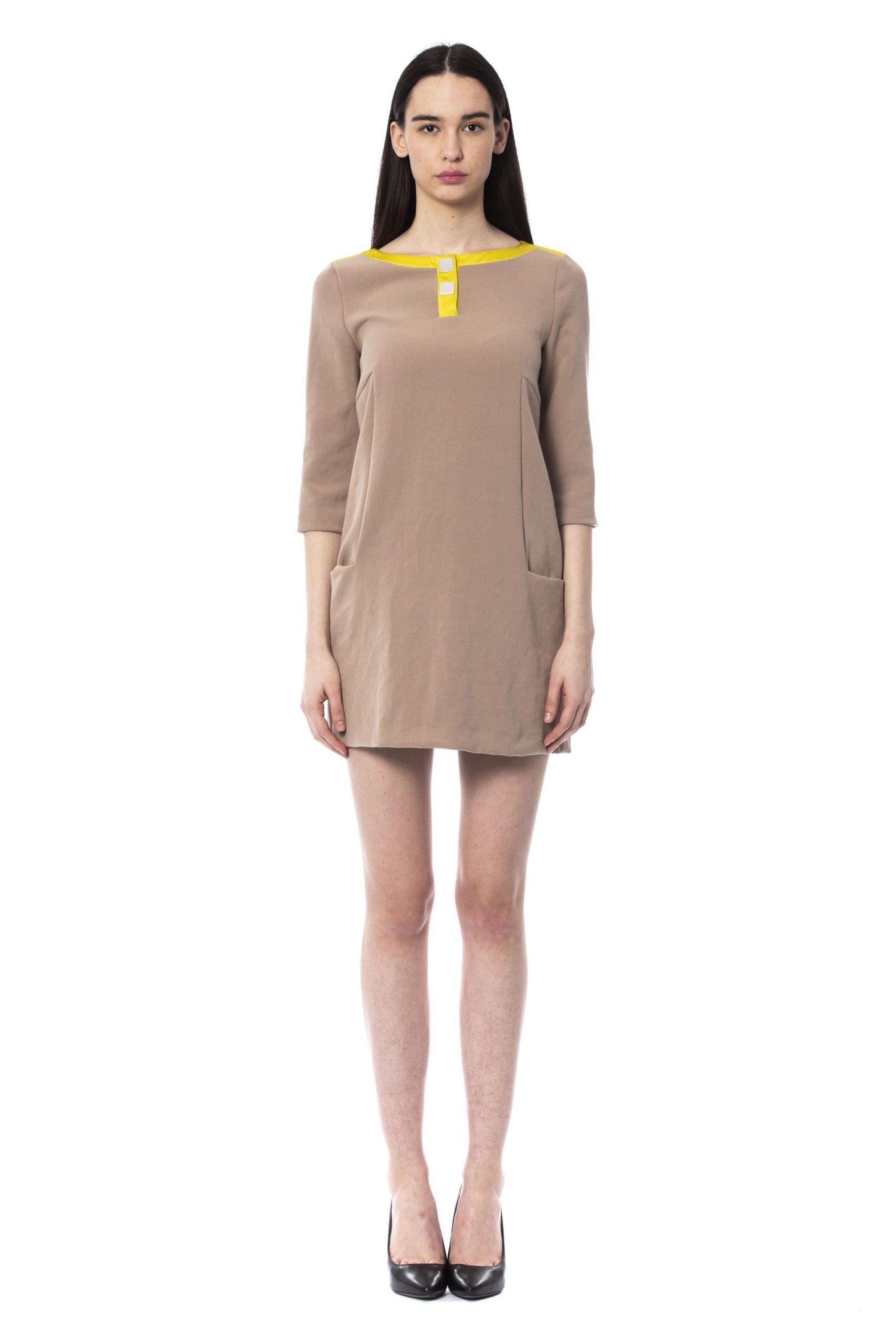 Byblos Women's Short Dress Brown BY997282 - IT42   S