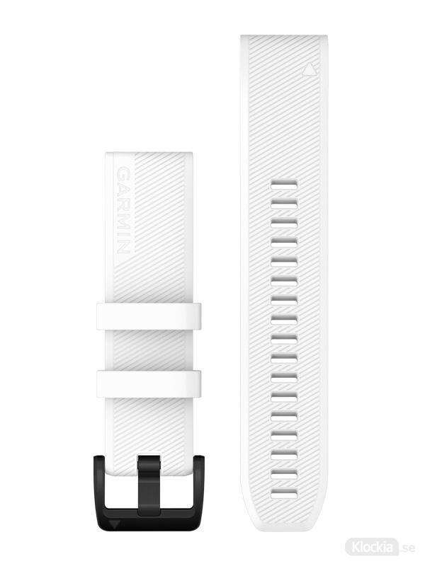 Garmin QuickFit 22mm - Klockarmband, Vitt med svarta detaljer i rostfritt stål