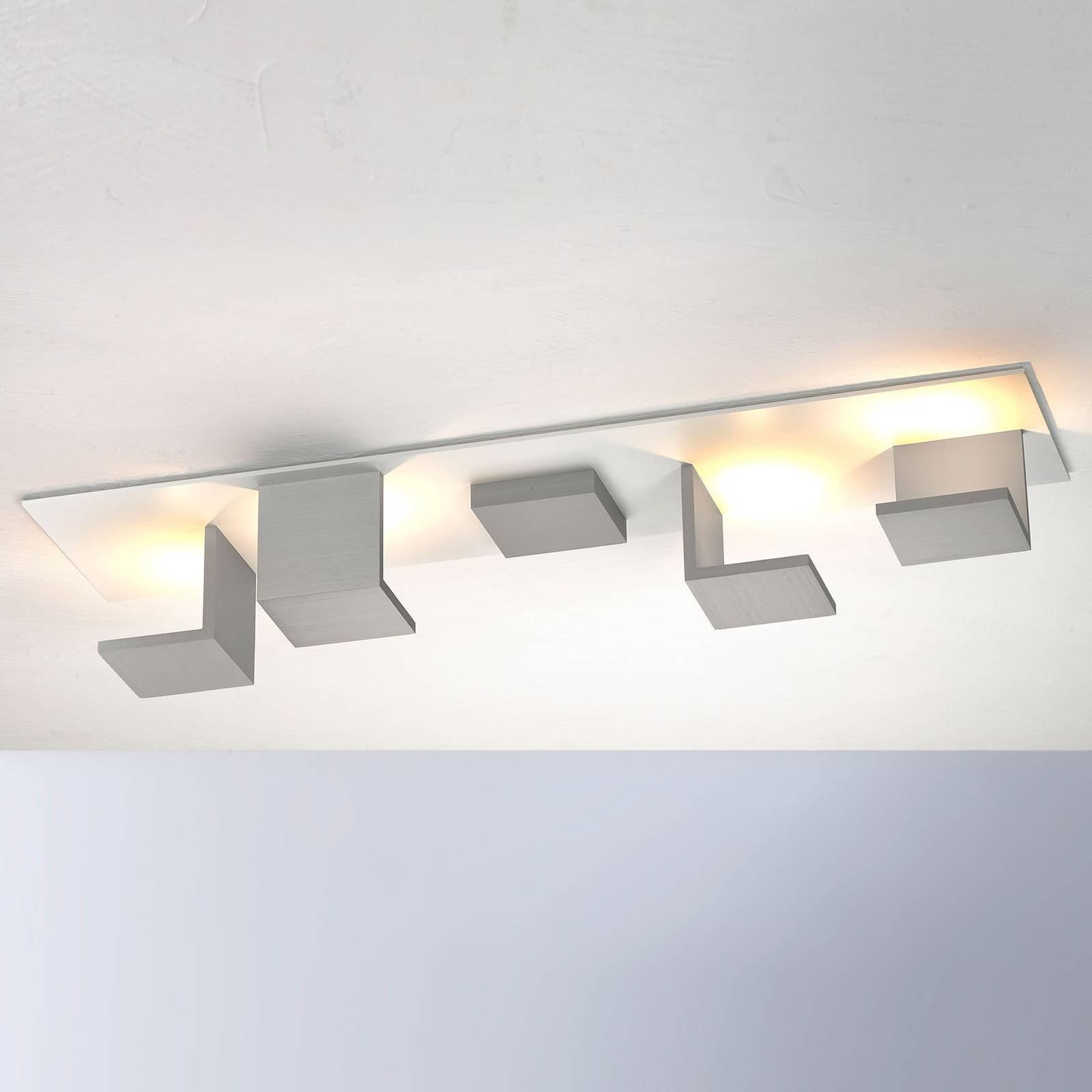 Bopp Reflections LED-taklampe lang hvit/alu