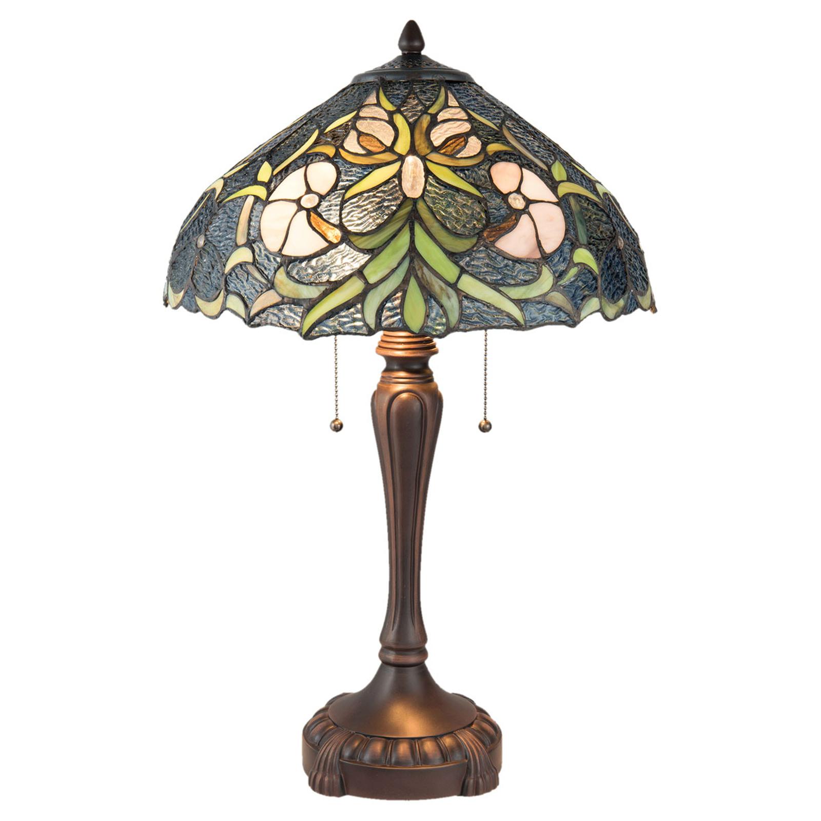Pöytälamppu 5922 tiffany-tyyliä, 2-lamppuinen