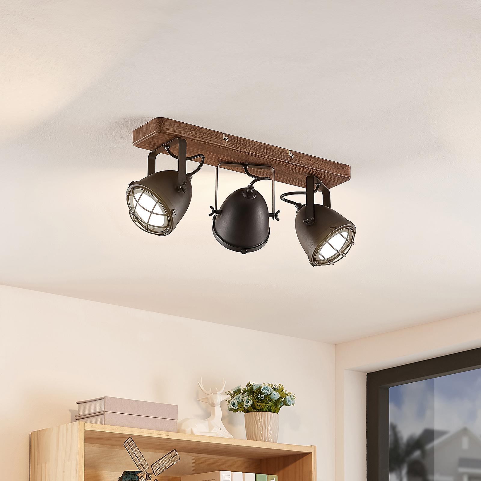 Lindby Adeon -LED-kattovalaisin, kolmilamppuinen