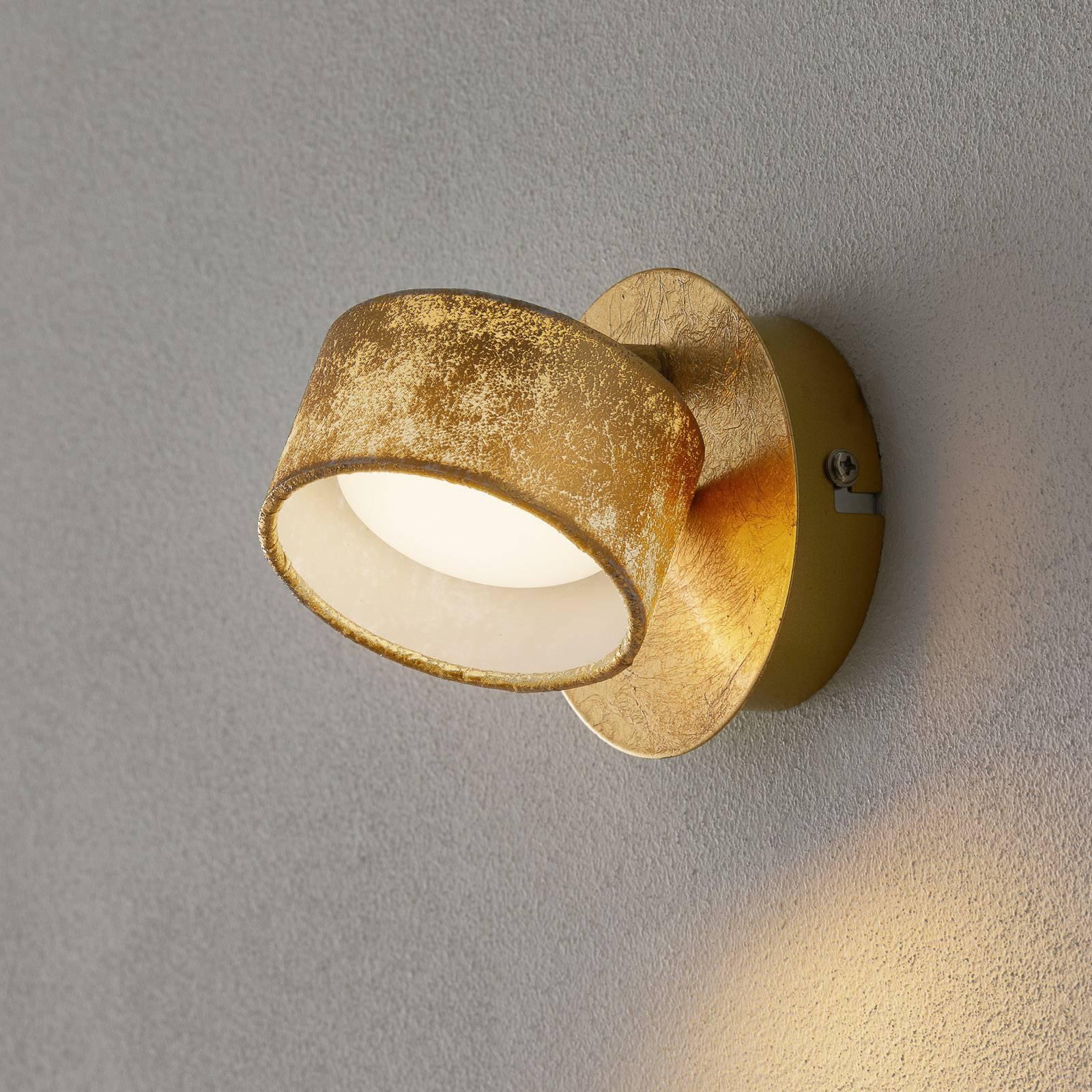 Anna LED-veggspot i gull