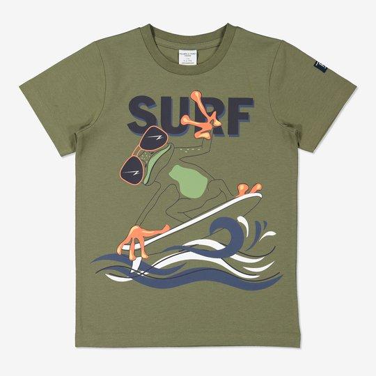 T-skjorte med trykk grønn