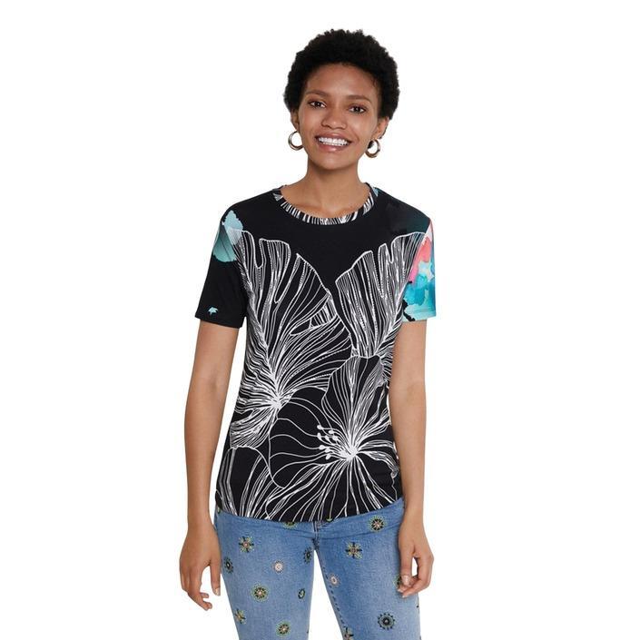 Desigual Women's T-Shirt Black 189165 - black XS