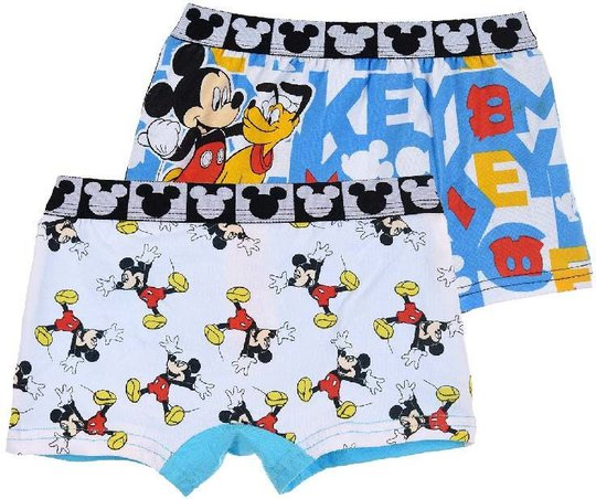 Disney Mikke Mus Boksershorts 2-pack, 6-8 År