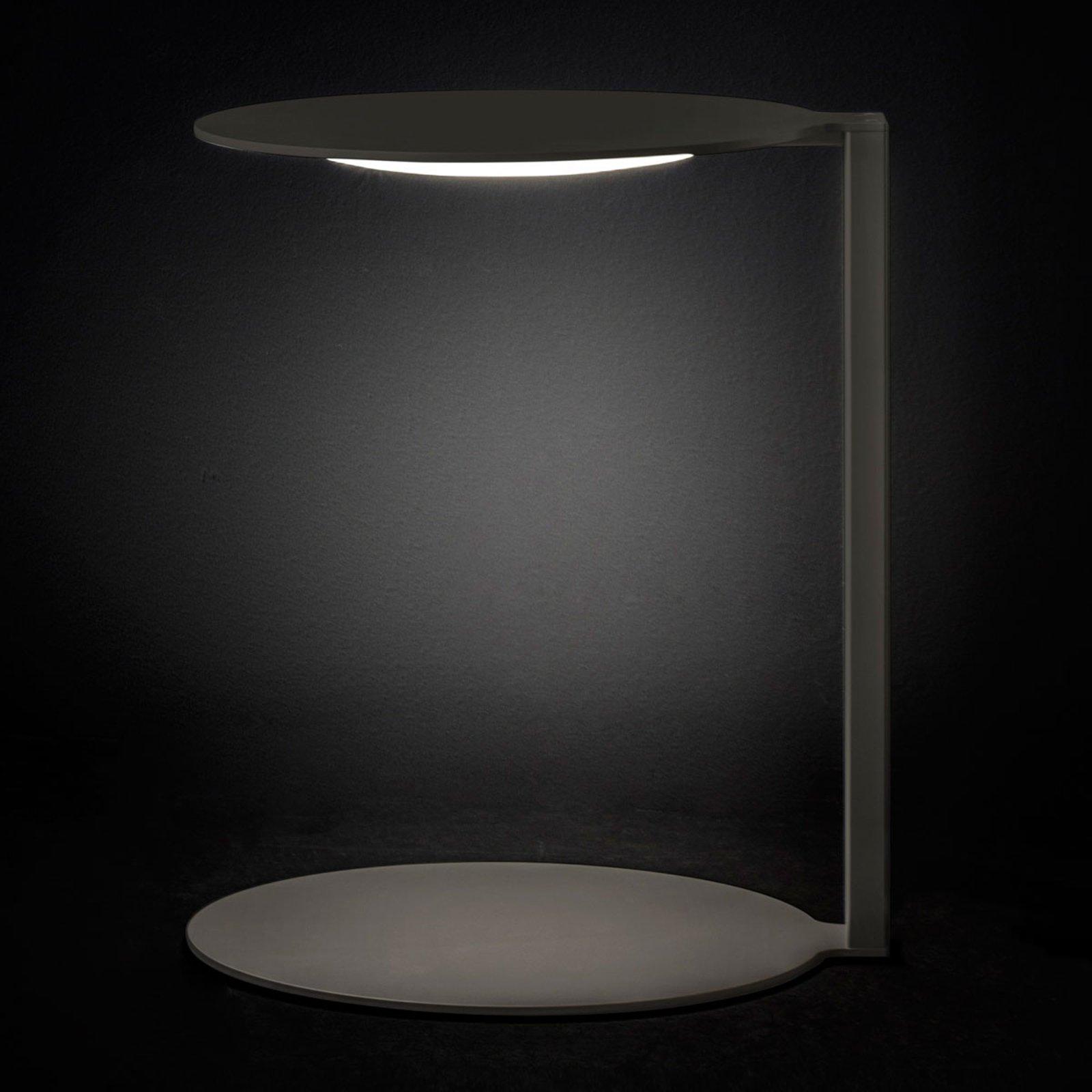 Oluce Duca - mørkegrå LED-designerbordlampe
