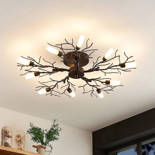 Lindby Bigna taklampe, 10 lyskilder