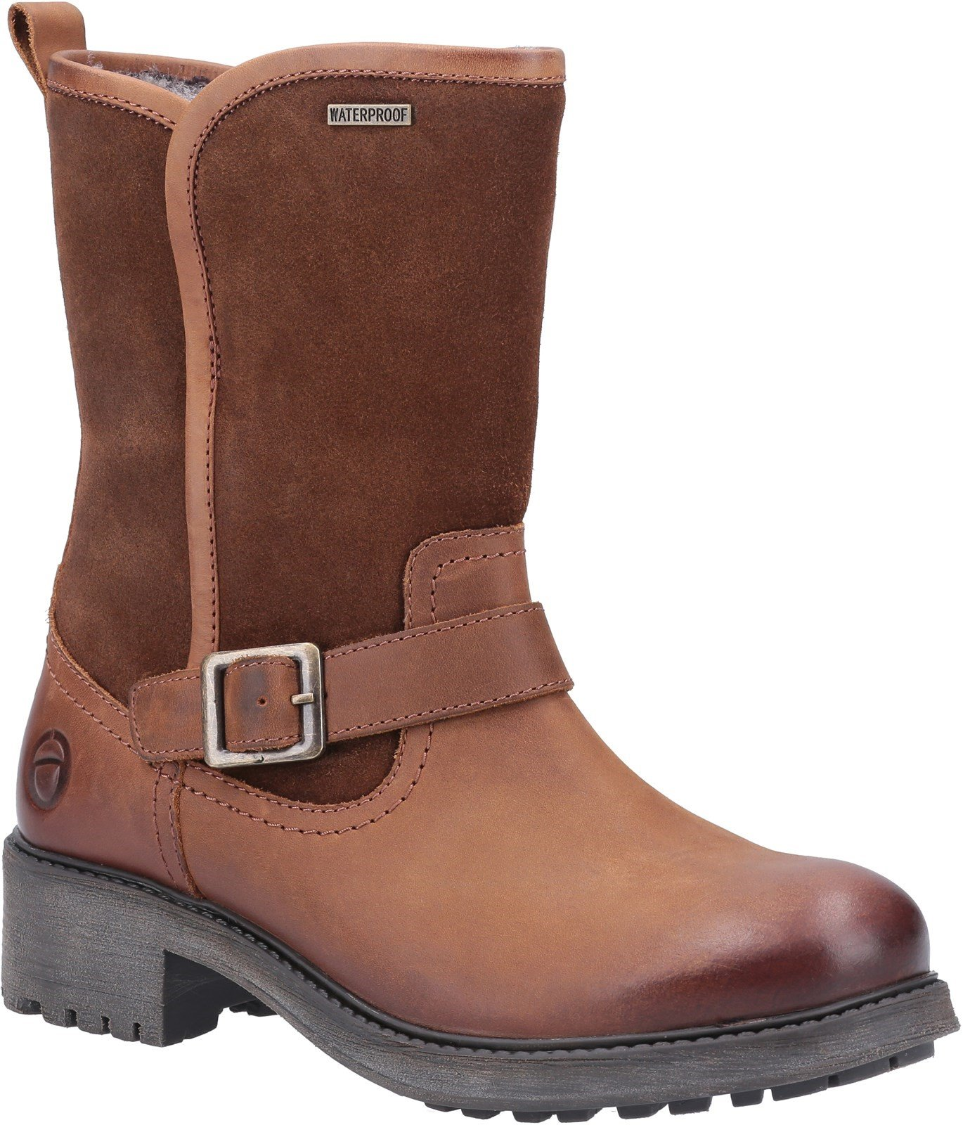 Cotswold Women's Randwick Calf-Length Boots Various Colours 30994 - Cognac 3