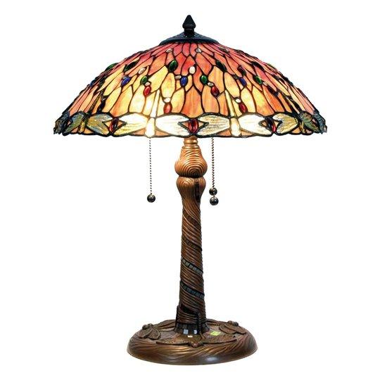 Fortryllende bordlampe Bella i Tiffany-stil
