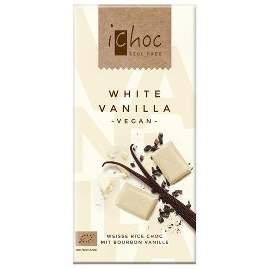 iChoc Chokladkaka Vit Vanilj, 80 g